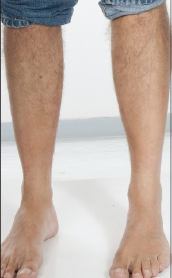 Leg hair growth